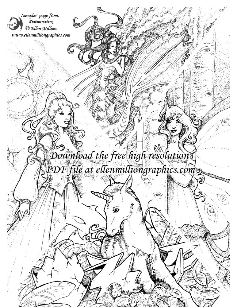 The Coloring Book Project 2nd Edition Download Ellen Million Graphics Fantasy Art Projects