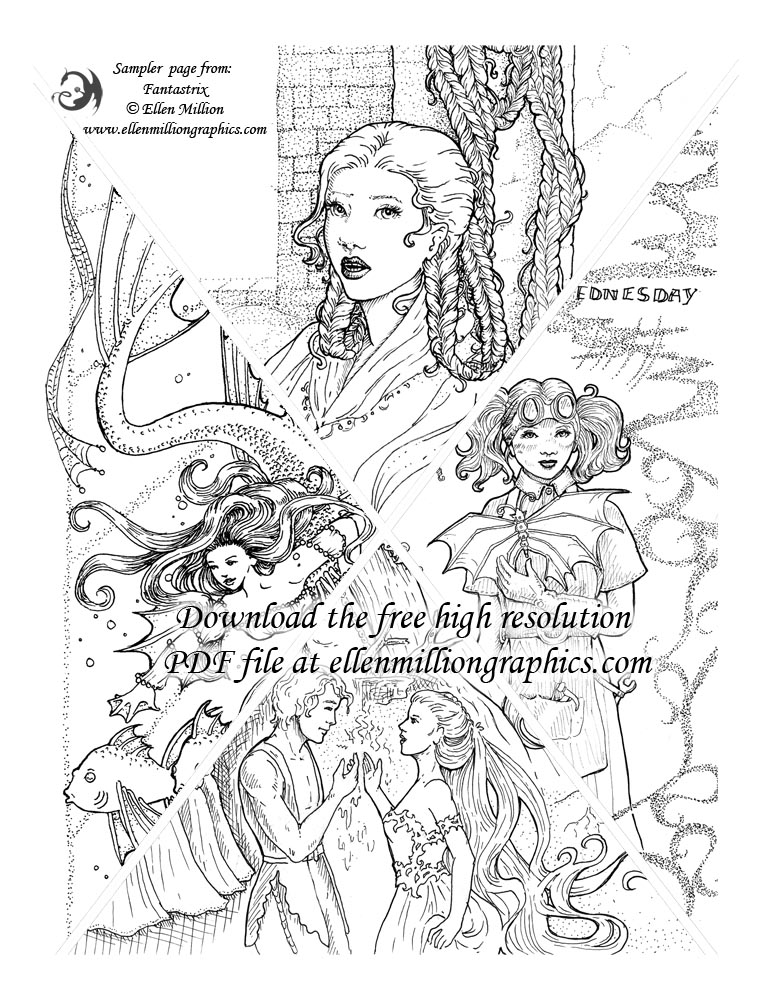 You Can Also Download Ellens Older Work In A Free Adult Coloring Book For Grownups Here