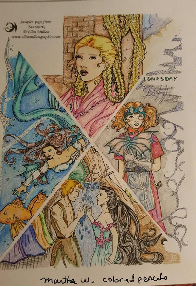 Ellen Million Graphics Fantasy Art Projects Coloring