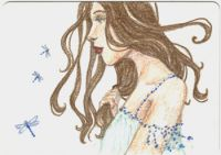 Dragonfly Girl ACEO
