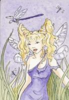 Dragonfly Fairy ACEO